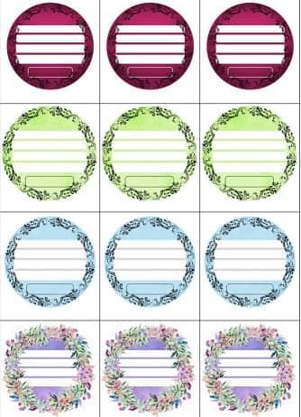 Круглые этикетки для домашних продуктов