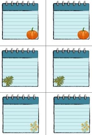 Скачать наклейки на домашние заготовки в виде блокнотного листа