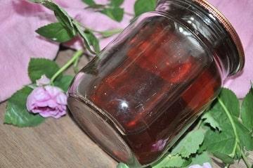 Розовый сироп рецепт